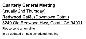 Quarterly General Meeting 