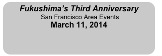 Fukushima's Third Anniversary